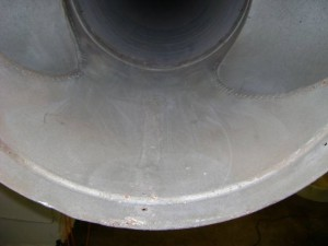 Metal duct after cleaning