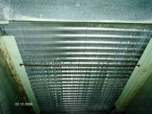 Evaporator coil after cleaning